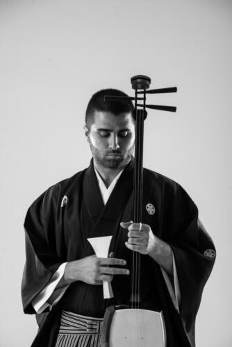 Kimono and Shamisen